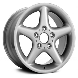 "Replace® - 15"" Remanufactured 5 Spokes All Painted Silver Factory Alloy Wheel"