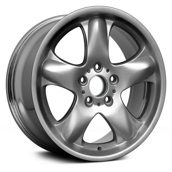 "Replace® - 18"" Remanufactured 5 Round Spokes Aftermarket Chrome Factory Alloy Wheel"