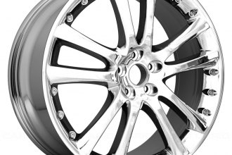 "Replace® - 20"" Remanufactured 5-Twin-Spoke Light PVD Aftermarket Chrome Factory Alloy Wheel"