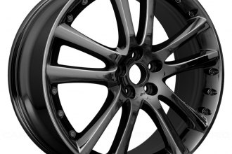 "Replace® - 20"" Remanufactured 5-Twin-Spoke Dark PVD Aftermarket Chrome Factory Alloy Wheel"