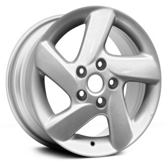 "Replace ALY64856U20N - 16"" Replica 5 Spokes Silver Factory Alloy Wheel"