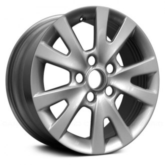 "Replace® - 16"" Remanufactured 5 Split Spokes Silver Factory Alloy Wheel"