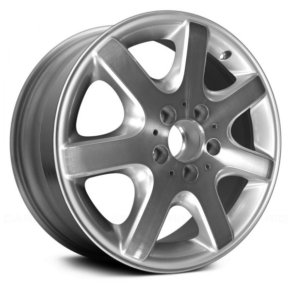 "Replace® - 16"" Remanufactured Rear 7 Spokes Bright Sparkle Silver Factory Alloy Wheel"
