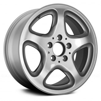 "Replace® - 16"" Remanufactured 5 Spokes Bright Sparkle Silver Factory Alloy Wheel"