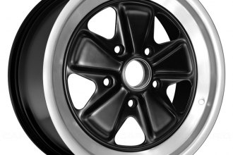 "Replace® - 15"" Remanufactured 5 Spokes Star Design Black Factory Alloy Wheel"