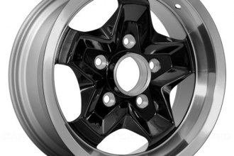 "Replace® - 15"" Remanufactured 5 Spokes Black with Machined Flange Factory Alloy Wheel"