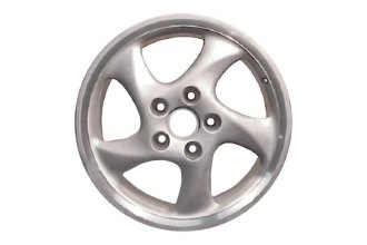 "Replace® - 18"" Remanufactured Front 5-Curved-Spoke All Painted Silver Factory Alloy Wheel"