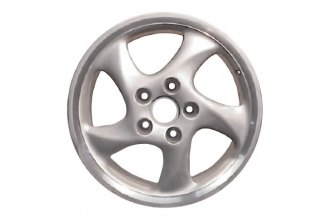 "Replace® - 18"" Remanufactured Rear 5-Spoke All Painted Silver Factory Alloy Wheel"