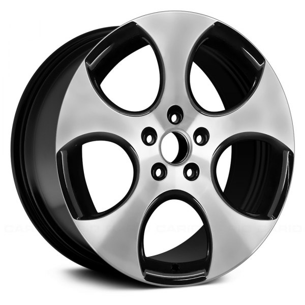 "Replace® - 18"" Remanufactured 5 Spokes Black Factory Alloy Wheel"