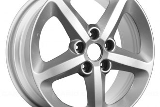 "Replace® ALY70727A20N - 17"" 5 Spokes with Large Valve Stem Holes Silver Factory Replica Alloy Wheel"