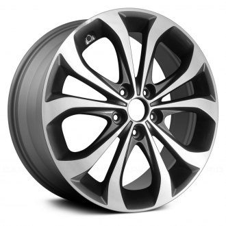"Replace® - 18"" Remanufactured 5 Double Spokes Machined and Medium Charcoal Factory Alloy Wheel"