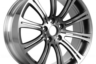 "Replace® ALY71235U80 - 19"" Remanufactured Rear 10-Double-Spoke Polished with Medium Charcoal Vents Factory Alloy Wheel"