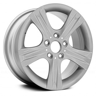 "Replace® - 17"" Remanufactured 5 Grooved Spokes All Painted Silver Factory Alloy Wheel"