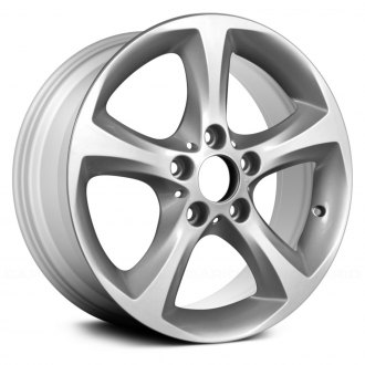 "Replace® - 17"" Remanufactured 5 Spokes All Painted Silver Factory Alloy Wheel"
