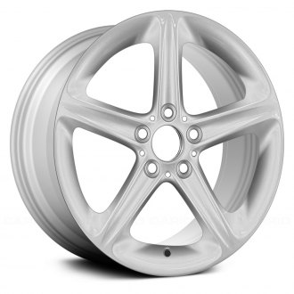 "Replace® - 18"" Remanufactured 5 Grooved Spokes All Painted Silver Factory Alloy Wheel"