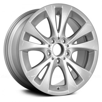 "Replace® - 17"" Remanufactured 5 Double Spokes Painted Sparkle Silver Factory Alloy Wheel"