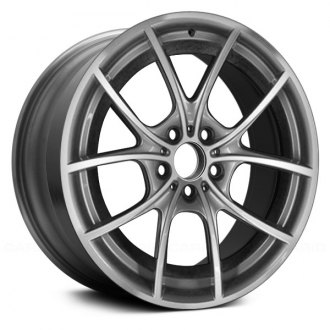 "Replace® - 20"" Remanufactured 10 Spokes Machined and Dark Silver Factory Alloy Wheel"