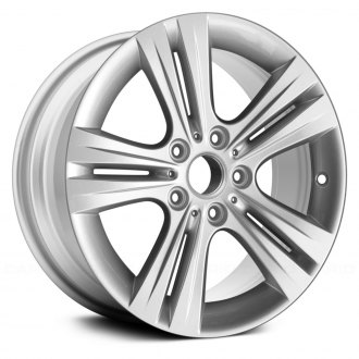 "Replace® - 17"" Remanufactured 5 Spokes All Painted Sparkle Silver Factory Alloy Wheel"