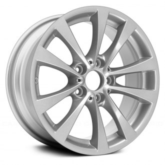 "Replace® - 17"" Remanufactured 5 V Spokes All Painted Silver Metallic Factory Alloy Wheel"