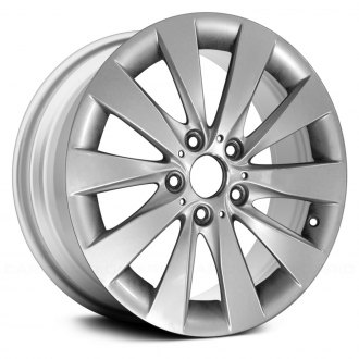 "Replace® - 17"" Remanufactured 5 V Spokes All Painted Sparkle Silver Factory Alloy Wheel"