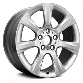 "Replace® - 18"" Remanufactured 7 Spokes All Painted Bright Silver Factory Alloy Wheel"