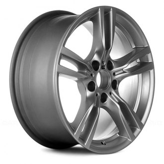 "Replace® - 18"" Remanufactured 5 Double Spokes All Painted Sparkle Silver Factory Alloy Wheel"