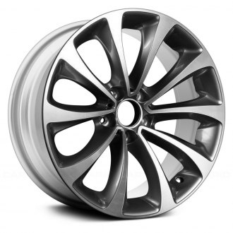 "Replace® - 18"" Remanufactured 10 Spokes Machined and Medium Silver Factory Alloy Wheel"