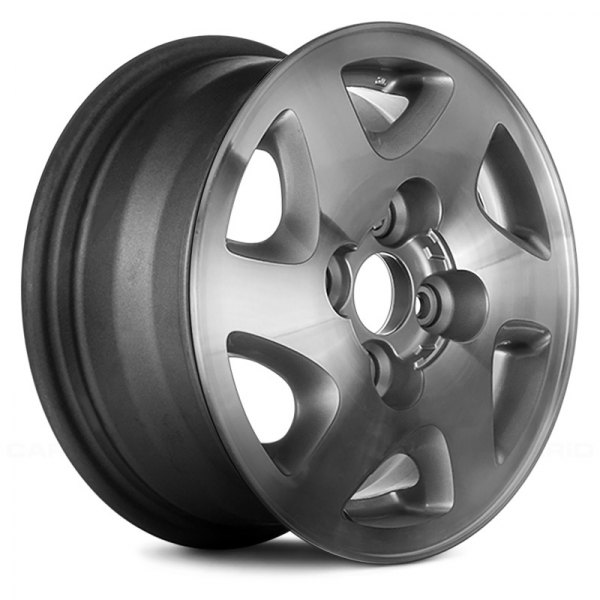 "Replace® - 14"" Remanufactured 6 Slots High Gloss Argent Factory Alloy Wheel"