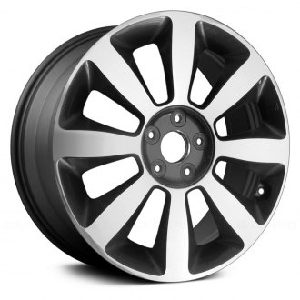 "Replace® - 18"" Brand New OE 8 Spokes Machined and Dark Charcoal Metallic Factory Alloy Wheel"