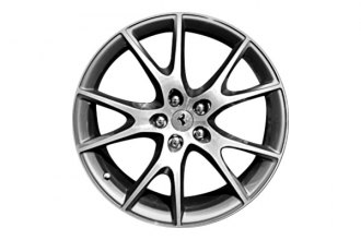 "Replace® - 20"" Remanufactured 5-Double-Spoke Machined Light Sparkle Charcoal Factory Alloy Wheel"