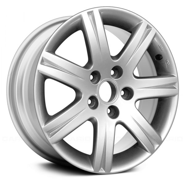 "Replace® - 16"" Remanufactured 7 Spokes All Painted Bright Silver Metallic Factory Alloy Wheel"