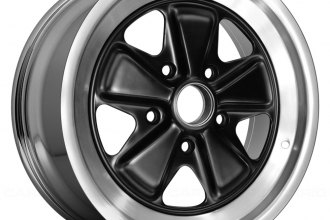 "Replace® - 16"" Remanufactured 5 Spokes Polished Lip with Black Star Factory Alloy Wheel"