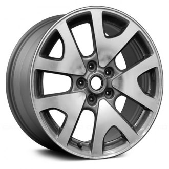 "Replace® - 17"" Remanufactured 5 V Spokes Medium Gray Factory Alloy Wheel"