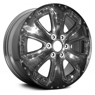 "Replace® - 20"" Remanufactured 6-Spoke with Dimples Chrome Factory Alloy Wheel"