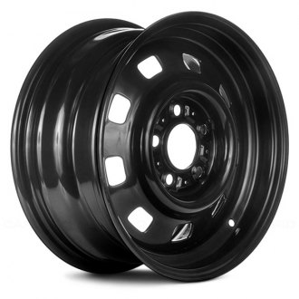 "Replace® - 15"" Replica 9 Holes Black Factory Steel Wheel"