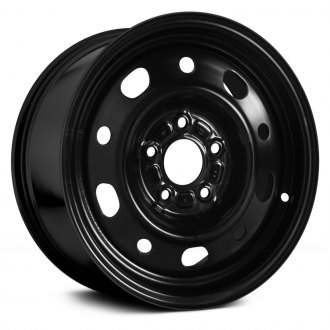 "Replace® - 15"" Remanufactured 10 Vents Black Factory Steel Wheel"