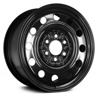 "Replace® - 15"" Remanufactured 12-Holes Black Factory Steel Wheel"