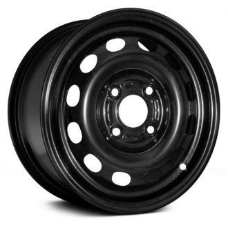 "Replace® - 15"" Remanufactured 10 Holes Black Factory Steel Wheel"