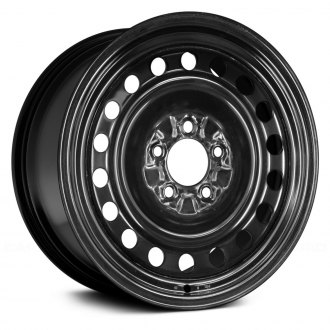 "Replace® - 16"" Replica 18 Holes Black Factory Steel Wheel"
