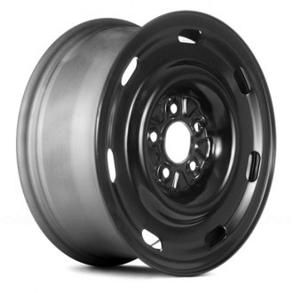 "Replace® - 16"" Remanufactured 7 Holes Black Factory Steel Wheel"