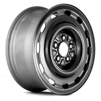 "Replace® - 16"" Remanufactured 12 Slots Black Factory Steel Wheel"