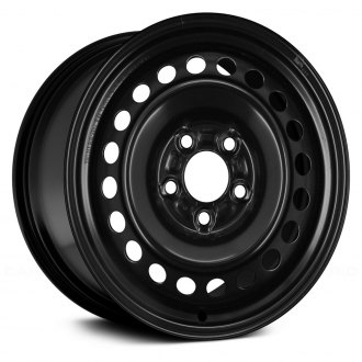 "Replace® - 15"" Remanufactured 20-Holes Black Factory Steel Wheel"