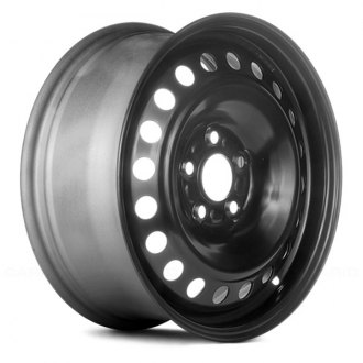 "Replace® - 16"" Remanufactured 20-Holes Black Factory Steel Wheel"