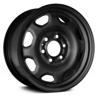 "Replace® - 17"" Remanufactured 8-Holes Black Factory Steel Wheel"