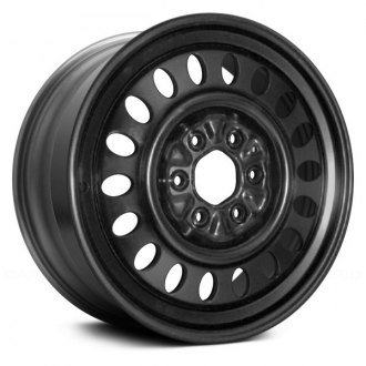 "Replace® - 17"" Replica 18 Holes Black Factory Steel Wheel"