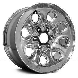 "Replace® - 17"" Remanufactured Cladded Chrome Factory Steel Wheel"