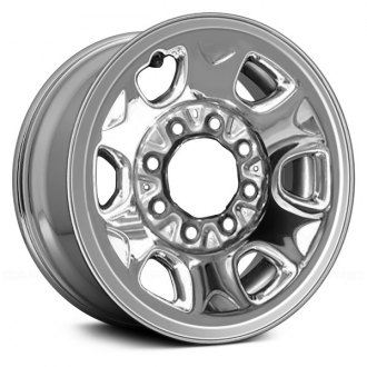"Replace® - 16"" Remanufactured Cladded Chrome Factory Steel Wheel"