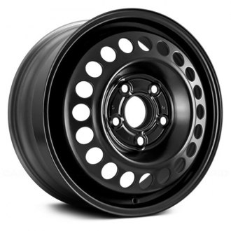 "Replace® - 15"" Remanufactured 20 Vents Black Factory Steel Wheel"