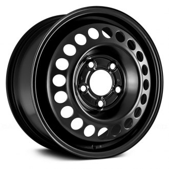 "Replace® - 15"" Replica 20 Holes Black Factory Steel Wheel"