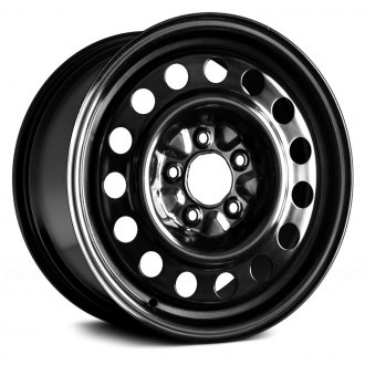 "Replace® - 16"" Replica 15 Round Vents Black Factory Steel Wheel"